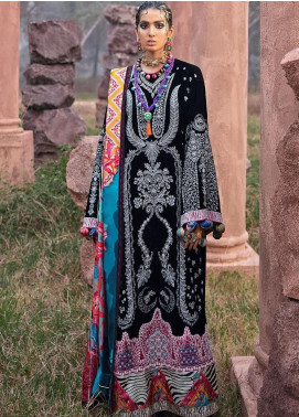 The Solstice Queen by Elan Embroidered Velvet Unstitched 3 Piece Suit EL20SQ 02 RHEA - Winter Collection
