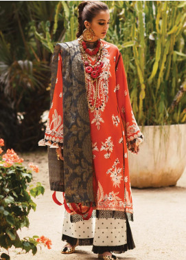 Elan Embroidered Lawn Unstitched 3 Piece Suit EL20L 13-B KESI - Spring / Summer Collection