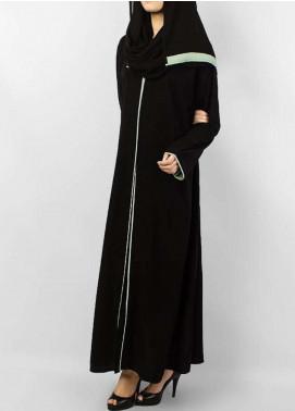 Hijab ul Hareem  Abayas Elegant Black Abaya with Pipin Work 0116-R