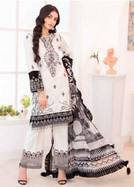 Elysia by Sana Sheraz Embroidered Lawn Unstitched 3 Piece Suit SS20E 04 Dandelion - Luxury Collection