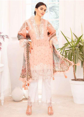 Elysia by Sana Sheraz Embroidered Lawn Unstitched 3 Piece Suit SS20E 06 Zinnia - Luxury Collection
