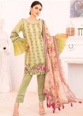 Elysia by Sana Sheraz Embroidered Lawn Unstitched 3 Piece Suit SS20E 08 Cherry Blossom - Luxury Collection