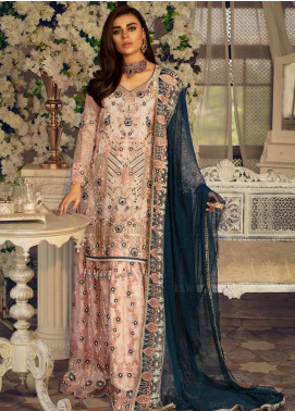Emaan Adeel Embroidered Chiffon Bridal Collection Design # 201 2019