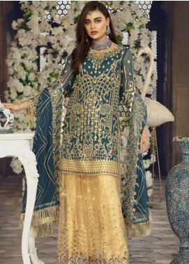 Emaan Adeel Embroidered Chiffon Unstitched 3 Piece Suit EA19BC 203 - Bridal Collection