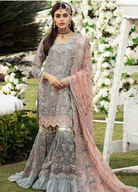 Emaan Adeel Embroidered Chiffon Unstitched 3 Piece Suit EA19BC 204 - Bridal Collection