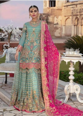 Emaan Adeel Embroidered Chiffon Unstitched 3 Piece Suit EA19BC 206 - Bridal Collection