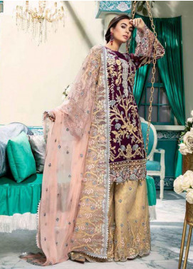 Emaan Adeel Embroidered Chiffon Unstitched 3 Piece Suit EA20-C10 1003 - Luxury Collection
