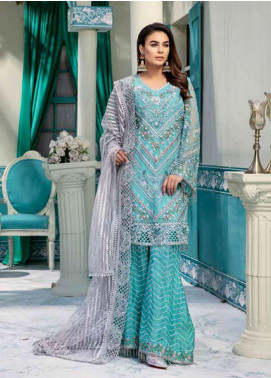 Emaan Adeel Embroidered Chiffon Unstitched 3 Piece Suit EA20-C10 1004 - Luxury Collection