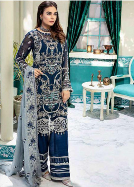 Emaan Adeel Embroidered Chiffon Unstitched 3 Piece Suit EA20-C10 1005 - Luxury Collection
