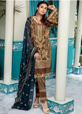 Emaan Adeel Embroidered Chiffon Unstitched 3 Piece Suit EA20-C10 1006 - Luxury Collection