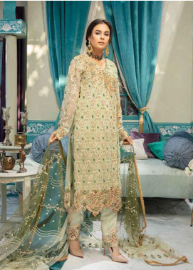 Emaan Adeel Embroidered Chiffon Unstitched 3 Piece Suit EA20-C10 1007 - Luxury Collection