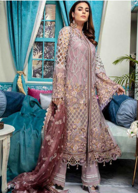Emaan Adeel Embroidered Chiffon Unstitched 3 Piece Suit EA20-C10 1009 - Luxury Collection