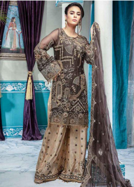 Emaan Adeel Embroidered Chiffon Unstitched 3 Piece Suit EA20-C10 1010 - Luxury Collection