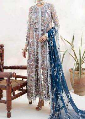 Emaan Adeel Embroidered Chiffon Unstitched 3 Piece Suit EA20-B3 302 Daisy Tulip - Bridal Collection