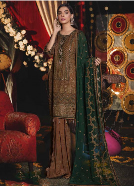 Emaan Adeel Embroidered Chiffon Unstitched 3 Piece Suit EA19-C6 605 - Luxury Collection