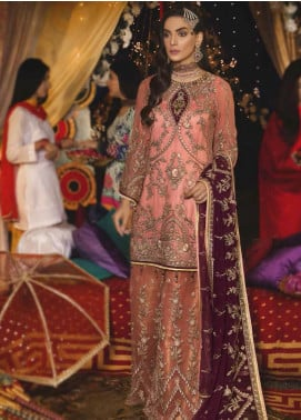 Emaan Adeel Embroidered Chiffon Unstitched 3 Piece Suit EA19-C6 606 - Luxury Collection