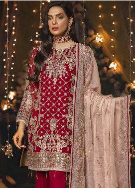 Emaan Adeel Embroidered Chiffon Unstitched 3 Piece Suit EA19-C6 608 - Luxury Collection