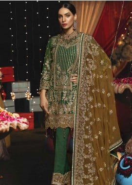 Emaan Adeel Embroidered Chiffon Unstitched 3 Piece Suit EA19-C6 609 - Luxury Collection