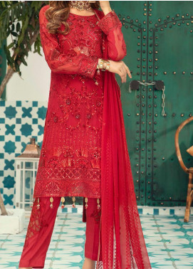Emaan Adeel Embroidered Chiffon Unstitched 3 Piece Suit EA20-C13 1305 - Luxury Collection