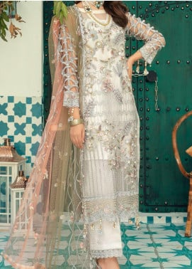 Emaan Adeel Embroidered Organza Unstitched 3 Piece Suit EA20-C13 1306 - Luxury Collection