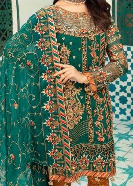 Emaan Adeel Embroidered Chiffon Unstitched 3 Piece Suit EA20-C13 1307 - Luxury Collection