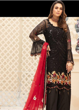 Emaan Adeel Embroidered Chiffon Unstitched 3 Piece Suit EA20LC 1102 - Luxury Collection