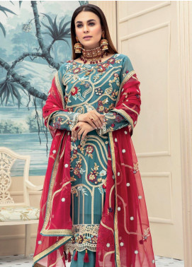 Emaan Adeel Embroidered Chiffon Unstitched 3 Piece Suit EA20LC 1105 - Luxury Collection