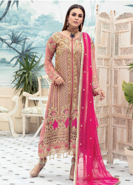 Emaan Adeel Embroidered Chiffon Unstitched 3 Piece Suit EA20LC 1107 - Luxury Collection