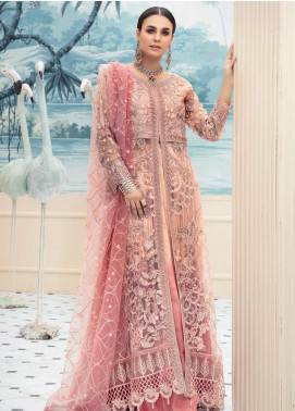 Emaan Adeel Embroidered Chiffon Unstitched 3 Piece Suit EA20LC 1109 - Luxury Collection