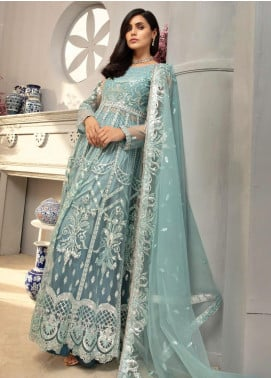 Emaan Adeel Embroidered Net Unstitched 3 Piece Suit EA20LC-12 EA-1201 - Luxury Collection