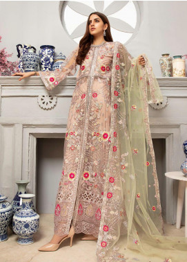 Emaan Adeel Embroidered Net Unstitched 3 Piece Suit EA20LC-12 EA-1202 - Luxury Collection