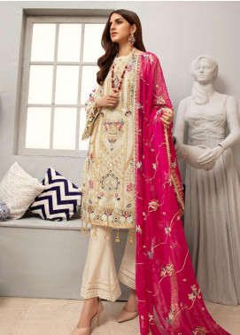 Emaan Adeel Embroidered Organza Unstitched 3 Piece Suit EA20LC-12 EA-1204 - Luxury Collection