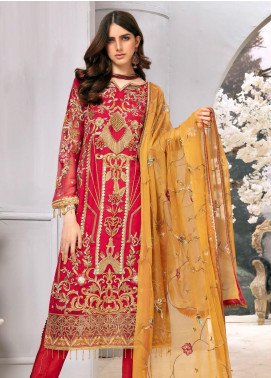 Emaan Adeel Embroidered Chiffon Unstitched 3 Piece Suit EA20LC-12 EA-1206 - Luxury Collection