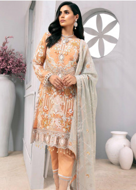 Emaan Adeel Embroidered Organza Unstitched 3 Piece Suit EA20LC-12 EA-1209 - Luxury Collection