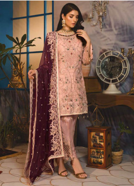 Emaan Adeel Embroidered Chiffon Unstitched 3 Piece Suit EA19-C7 703 - Festive Collection