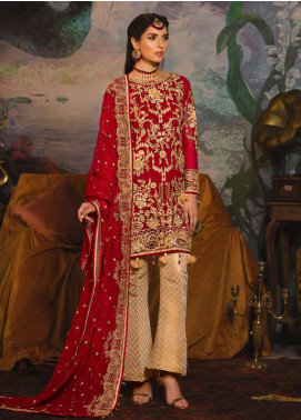 Emaan Adeel Embroidered Chiffon Unstitched 3 Piece Suit EA19-C7 704 - Festive Collection