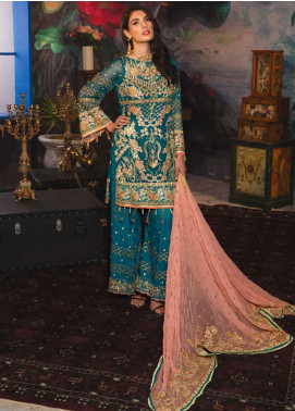 Emaan Adeel Embroidered Chiffon Unstitched 3 Piece Suit EA19-C7 705 - Festive Collection