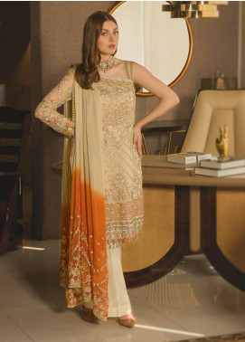 Emaan Adeel Embroidered Chiffon Unstitched 3 Piece Suit EA19-C8 801 - Luxury Collection