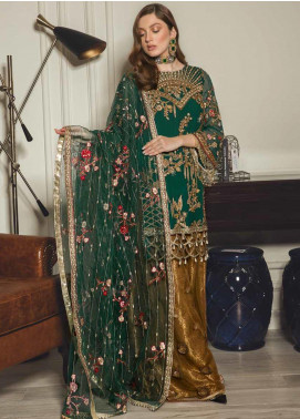 Emaan Adeel Embroidered Chiffon Unstitched 3 Piece Suit EA19-C8 802 - Luxury Collection