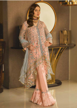 Emaan Adeel Embroidered Chiffon Unstitched 3 Piece Suit EA19-C8 803 - Luxury Collection