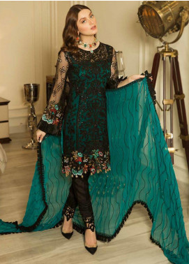 Emaan Adeel Embroidered Chiffon Unstitched 3 Piece Suit EA19-C8 804 - Luxury Collection