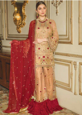 Emaan Adeel Embroidered Chiffon Unstitched 3 Piece Suit EA19-C8 805 - Luxury Collection