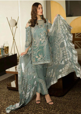 Emaan Adeel Embroidered Chiffon Unstitched 3 Piece Suit EA19-C8 806 - Luxury Collection