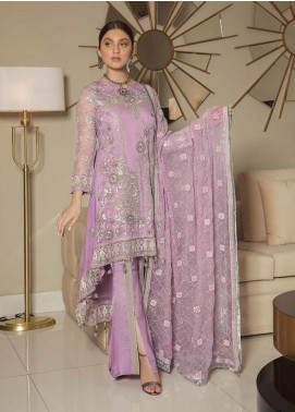 Emaan Adeel Embroidered Chiffon Unstitched 3 Piece Suit EA19-C8 807 - Luxury Collection
