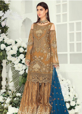 Emaan Adeel Embroidered Chiffon Unstitched 3 Piece Suit EA19-C9 902 - Luxury Collection
