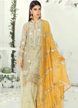Emaan Adeel Embroidered Chiffon Unstitched 3 Piece Suit EA19-C9 903 - Luxury Collection