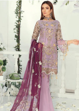 Emaan Adeel Embroidered Chiffon Unstitched 3 Piece Suit EA19-C9 904 - Luxury Collection