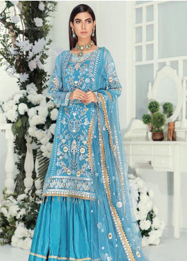 Emaan Adeel Embroidered Chiffon Unstitched 3 Piece Suit EA19-C9 905 - Luxury Collection