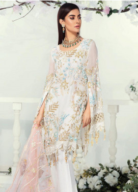Emaan Adeel Embroidered Chiffon Unstitched 3 Piece Suit EA19-C9 907 - Luxury Collection