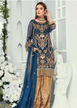 Emaan Adeel Embroidered Chiffon Unstitched 3 Piece Suit EA19-C9 908 - Luxury Collection
